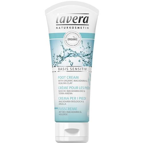 Crema pentru picioare cu macadamia si argila, Basis Sensitiv - LAVERA