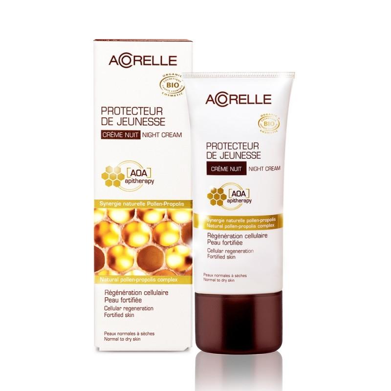 Crema antirid de noapte cu polen si propolis - Acorelle