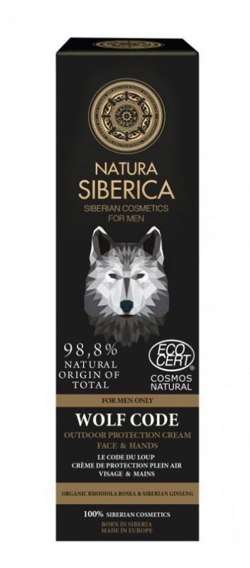 Crema bio protectie maini si fata, pentru barbati, Wolf Code - Natura Siberica