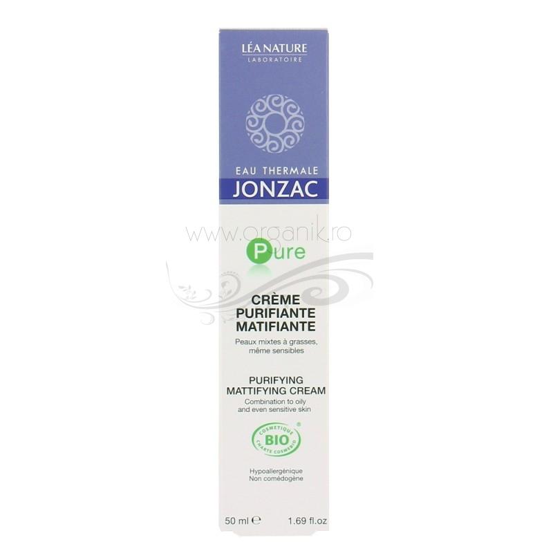 Crema purifianta matifianta, ten sensibil mixt sau gras, Pure 50ml - JONZAC
