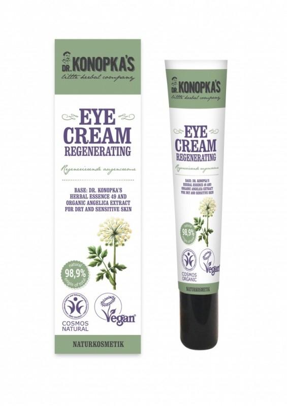 Crema contur ochi regeneranta pentru ten uscat sau sensibil, 20 ml - Dr. Konopka