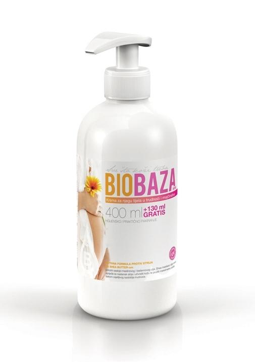 Crema corp antivergeturi pentru gravide si mamici, 500 ml - BIOBAZA MAMA