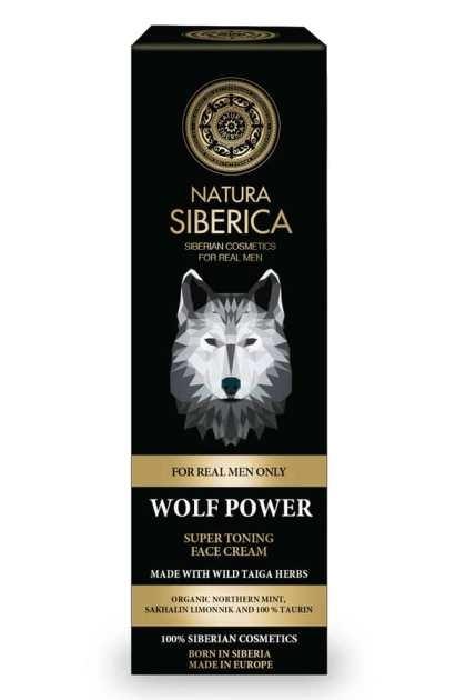 Crema de fata tonifianta pentru barbati Wolf Power, 50ml - Natura Siberica