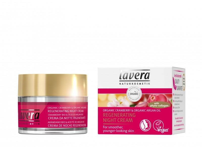 Crema de noapte antirid si regeneranta cu merisor si fitocolagen, 50 ml - LAVERA
