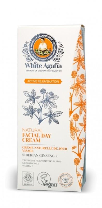 Crema de zi antiage cu ginseng siberian Active Rejuvenation, 50ml - White Agafia