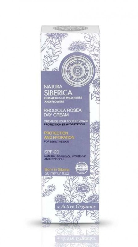 Crema de zi hidratanta ten sensibil cu FPS 20, Rhodiola Rosea, 50 ml - Natura Siberica