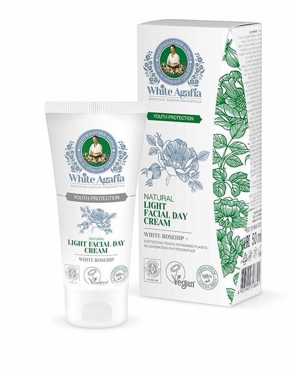 Crema de zi light cu extract de macese Youth Protection, 50ml - White Agafia