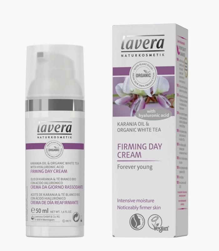 Crema de zi regeneranta antirid cu ulei de karanja, coenzima Q10 si acid hialuronic, 50 ml - LAVERA