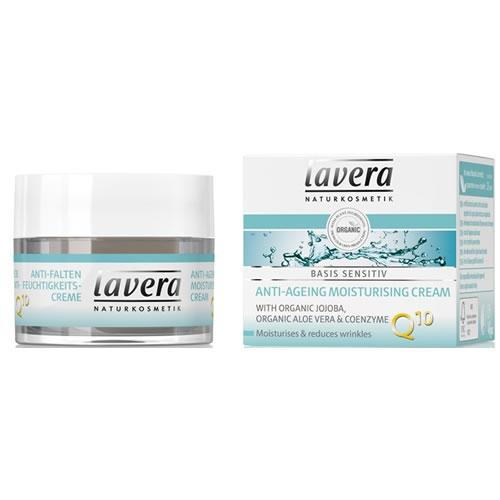 Crema hidratanta antirid cu coenzima Q10 Basis Sensitiv, 50 ml - LAVERA