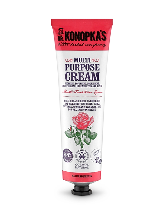 Crema hidratanta multifunctionala cu trandafir, 75 ml - Dr. Konopka