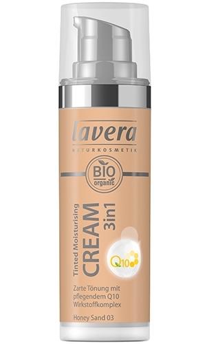 Crema nuantatoare 3-in-1 cu coenzima Q10 - Honey Sand 03, 30ml - LAVERA