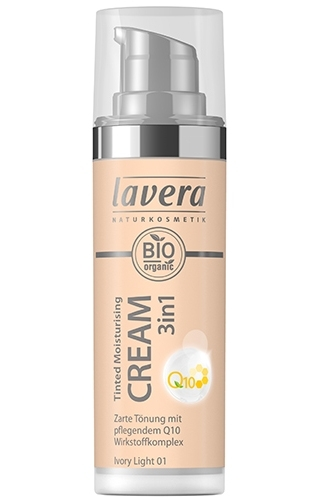 Crema nuantatoare 3-in-1 cu coenzima Q10 - Ivory Light 01, 30ml - LAVERA