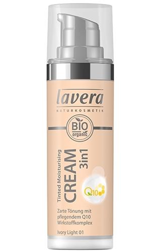Crema nuantatoare 3-in-1 cu coenzima Q10 - Ivory Light 01, 30ml - LAVERA