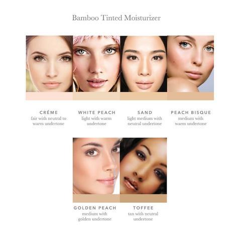Crema nuantatoare matifianta Bamboo Blur, White Peach - 100 Percent Pure Cosmetics