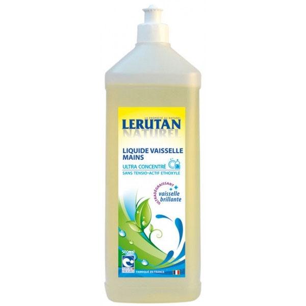 Detergent de vase concentrat cu extract de ovaz, pentru maini sensibile, 1L - LERUTAN