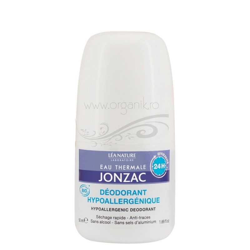 Deodorant roll-on hipoalergenic cu apa termala, 50 ml - JONZAC