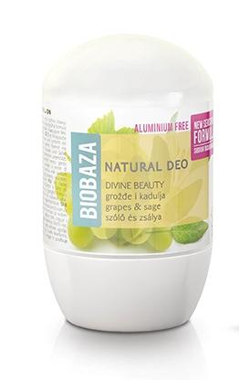 Deodorant cu bicarbonat piele sensibila DIVINE BEAUTY (salvie si struguri) - BIOBAZA