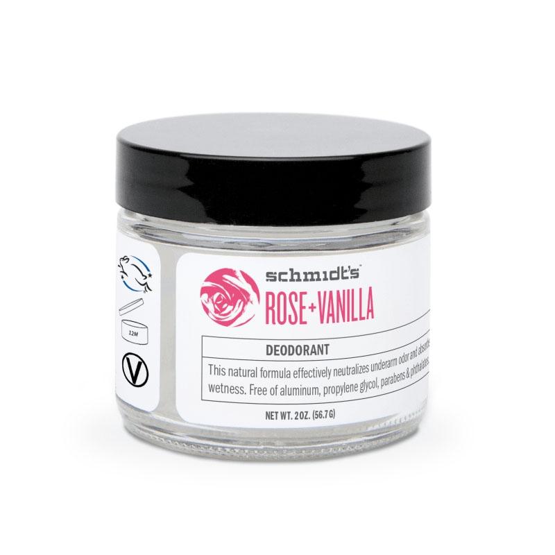 Deodorant natural cu bicarbonat Rose & Vanilla, borcanel - Schmidts's Deodorant