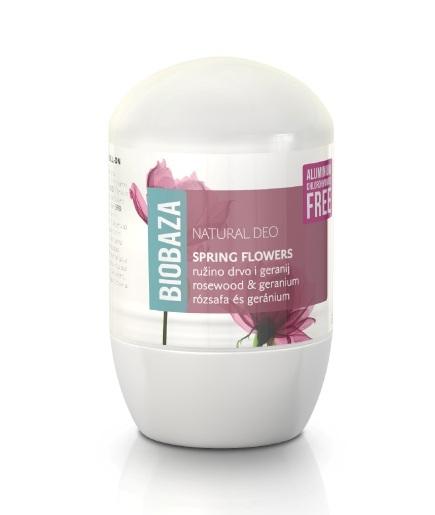 Deodorant natural pentru femei SPRING FLOWERS (trandafiri si geranium) - BIOBAZA