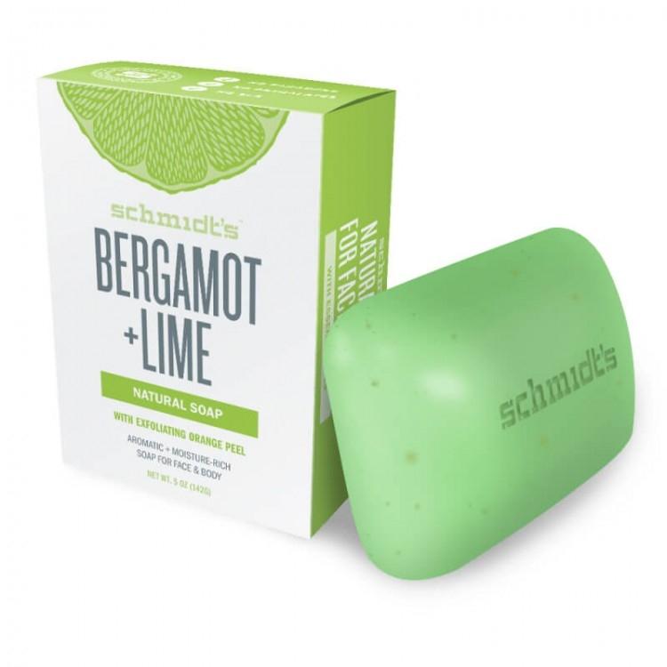 Sapun fata si corp Bergamot & Lime, cu exfoliant din coaja de portocala - Schmidt's