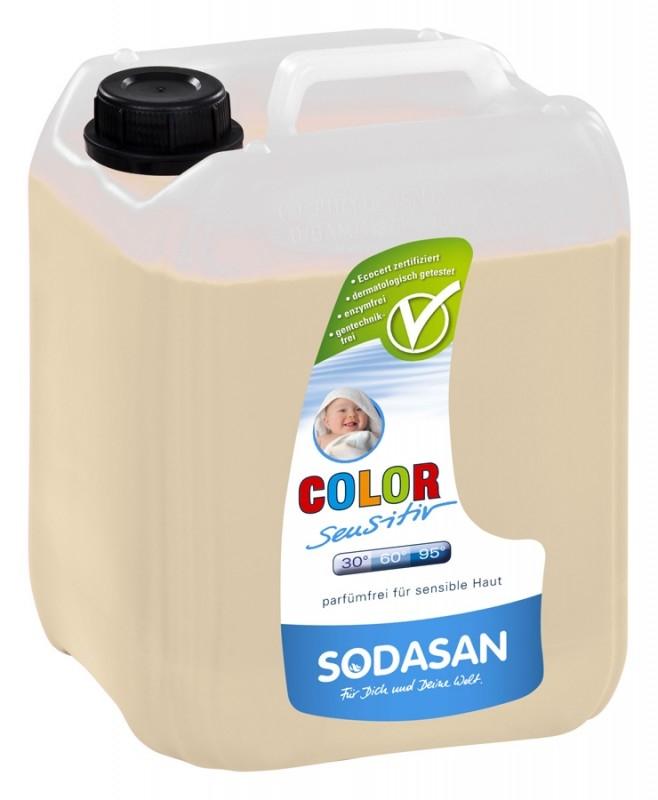 Detergent BIO lichid pentru rufe Sensitive Hipoalergen, 5L- Sodasan