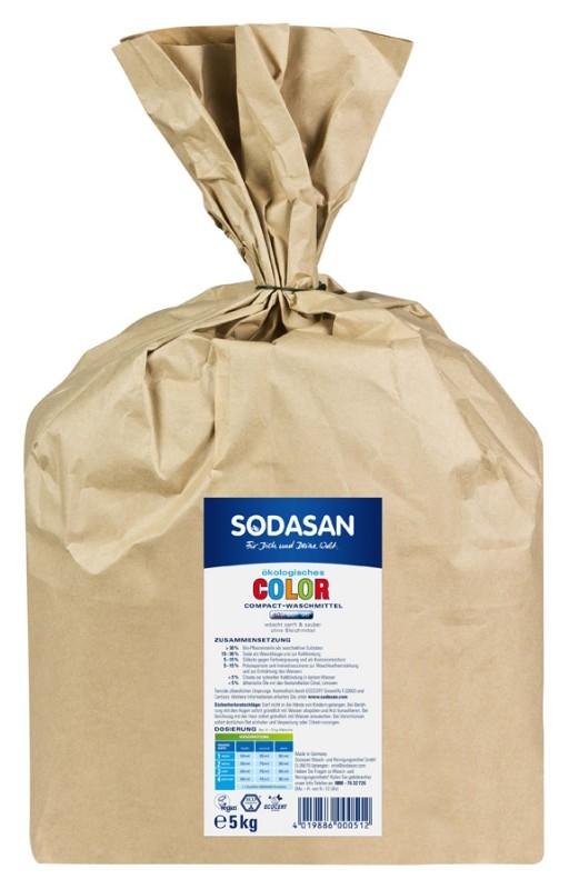 Detergent BIO praf pentru rufe albe si colorate, 5 kg - Sodasan