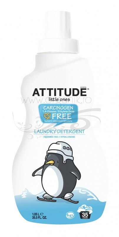 Detergent ECO pentru rufele bebelusilor (35 spalari), FARA PARFUM - ATTITUDE