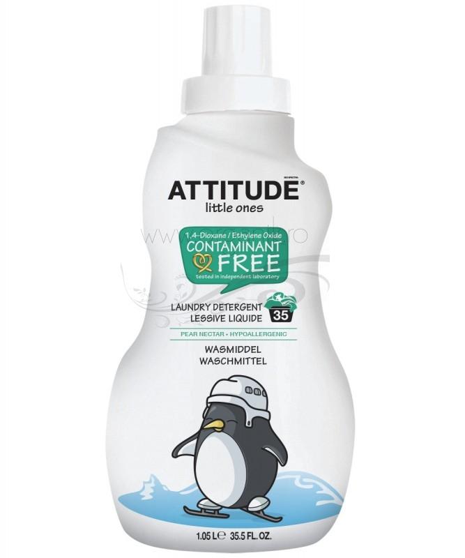 Detergent ECO pentru rufele bebelusilor 35 spalari, Nectar de Pere - ATTITUDE