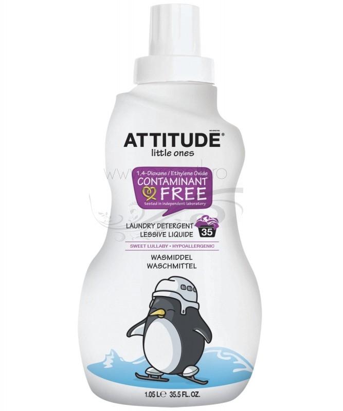 Detergent ECO pentru rufele bebelusilor 35 spalari, Sweet Lullaby - ATTITUDE