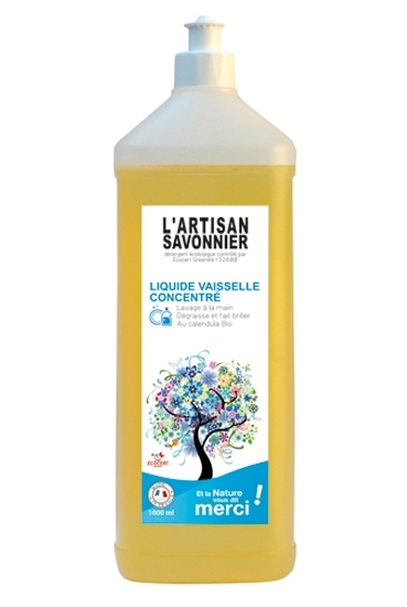 Detergent bio pentru vase concentrat si degresant, cu galbenele 1L - ARTISAN SAVONNIER