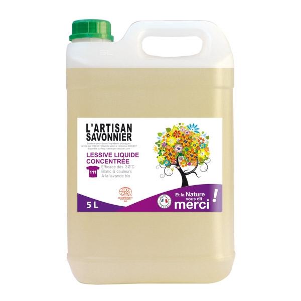 Detergent bio pentru vase concentrat si degresant, cu galbenele 5 L - ARTISAN SAVONNIER