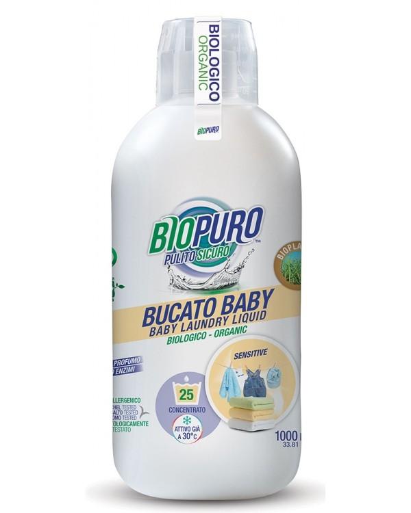 Detergent ecologic pentru bebelusi, fara parfum, 25 spalari - Biopuro