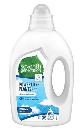 Detergent ecologic pentru rufe fara parfum Free & Clear, 1L - Seventh Generation