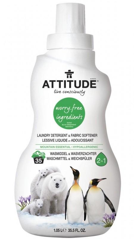 Detergent si balsam de rufe 2 in 1, Esenta Montana (35 spalari) - ATTITUDE