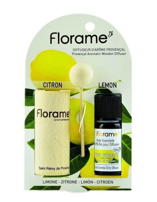 Difuzor Provencal & Ulei esential BIO de lamaie (10ml) - Florame