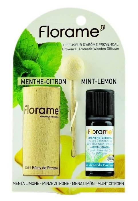 Difuzor Provencal & Ulei esential BIO de menta-lamaie (10ml) - Florame