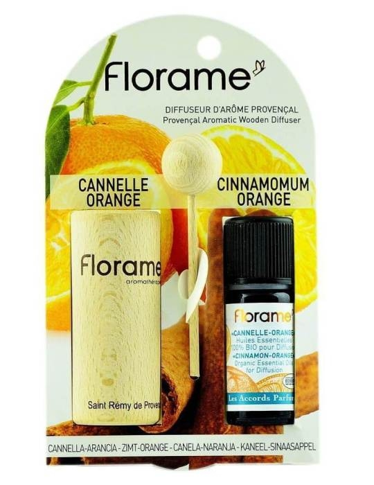 Difuzor Provencal & Ulei esential BIO de scortisoara-portocale (10ml) - Florame