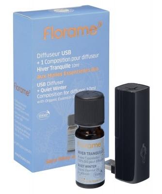 Difuzor USB pentru uleiuri esentiale + cadou ulei raceala Hiver Tranquille BIO - Florame
