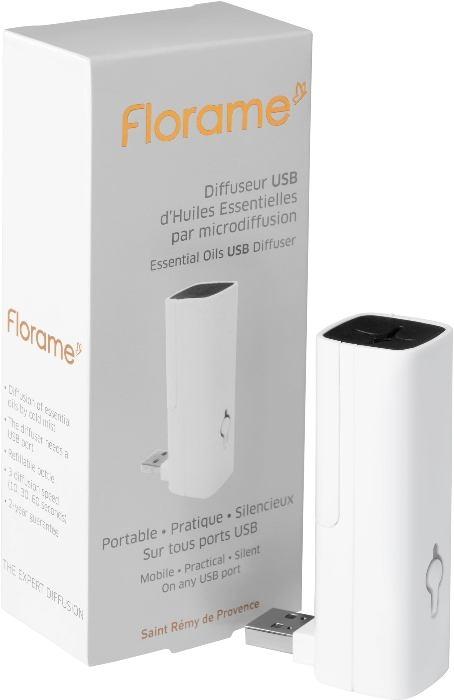 Difuzor USB pentru uleiuri esentiale, alb - Florame