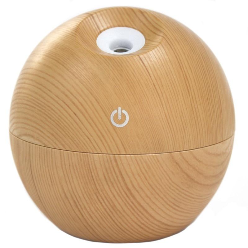 Difuzor aromaterapie cu ultrasunete si LED, Pinewood (tip glob) - Ancient Wisdom