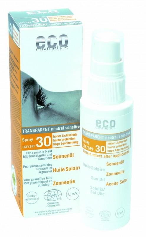 Ulei de plaja bio pentru fata si corp cu protectie solara inalta FPS 30 - Eco Cosmetics