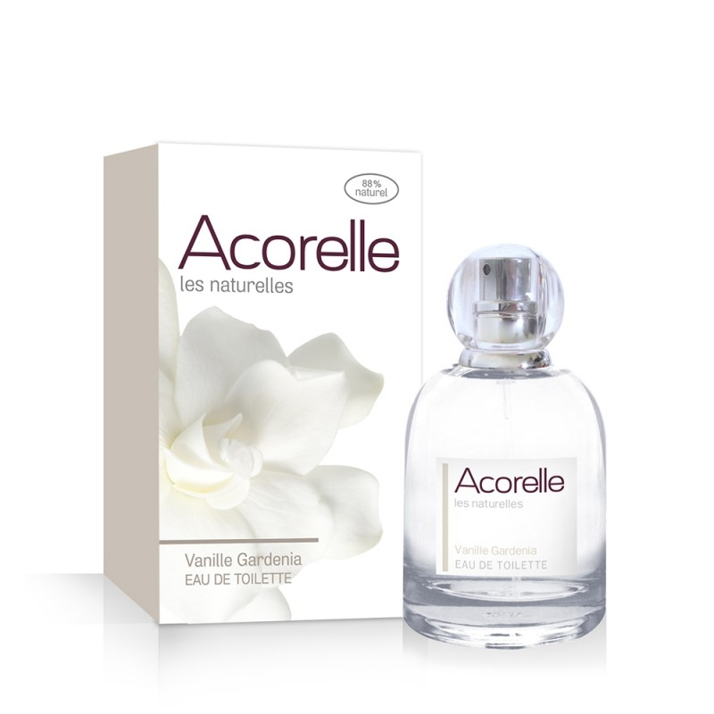 Apa de toaleta naturala Vanille Gardenia, 50 ml - Acorelle