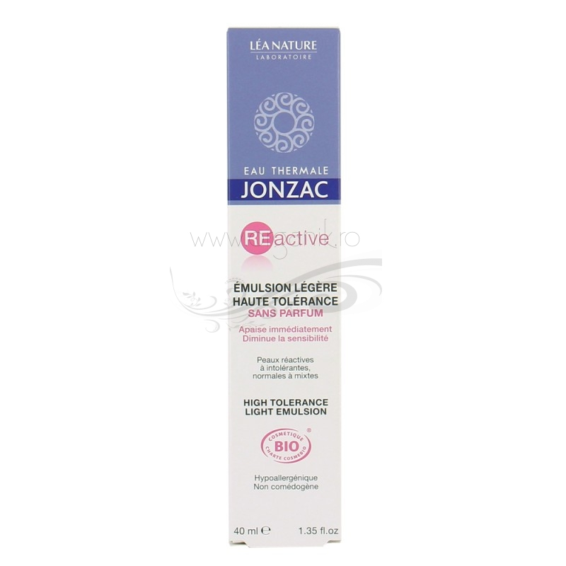 Emulsie lejera ten sensibil si reactiv, normal si mixt, REactive 40ml - JONZAC