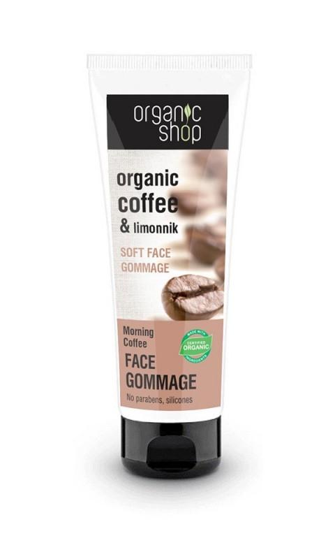 Gomaj bland pentru ten cu cafea Morning Coffee, 75 ml - Organic Shop