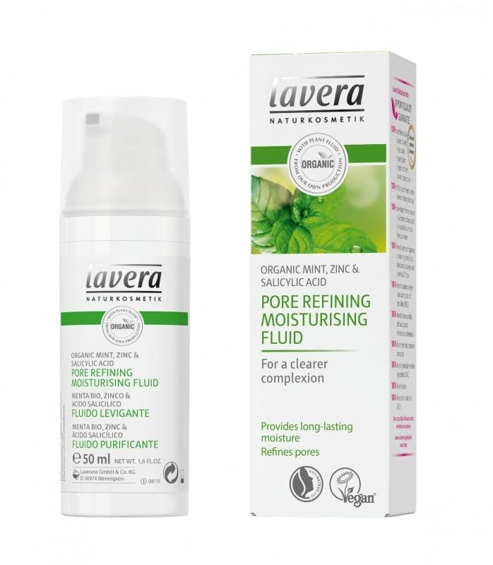 Fluid hidratant pentru inchiderea porilor & ten gras, cu menta, zinc si acid salicilic, 50 ml - LAVERA
