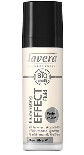 Fluid iluminator organic cu extract de perle, Sheer Silver 01, 30ml - LAVERA