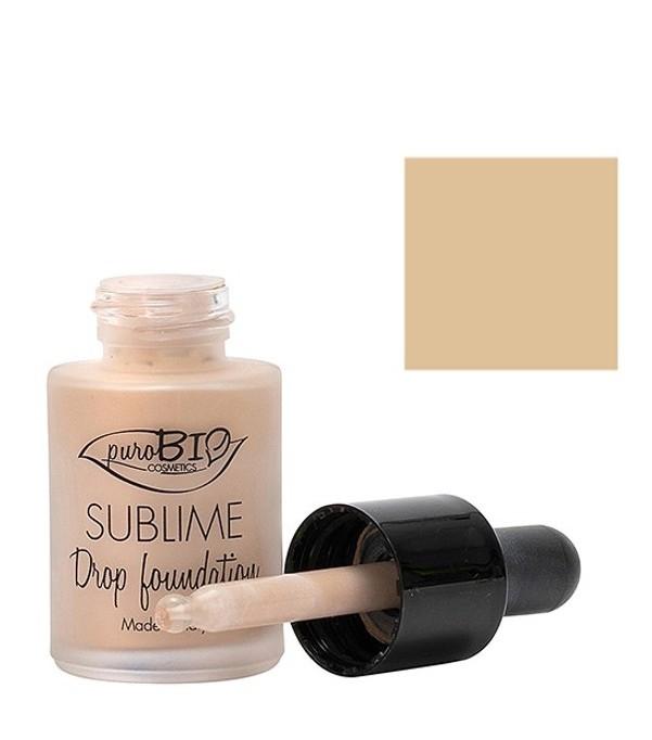 Fond de ten bio Sublime Drop Foundation 02, 15ml - PuroBio