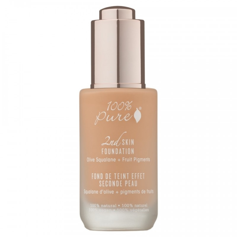 Fond de ten serum cu efect 2nd Skin, no. 3 (Golden Peach)- 100 Percent Pure Cosmetics