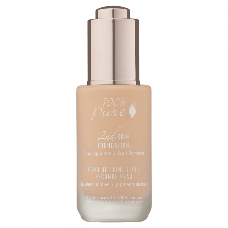 Fond de ten serum cu efect 2nd Skin, no.1 (Sand) - 100 Percent Pure Cosmetics