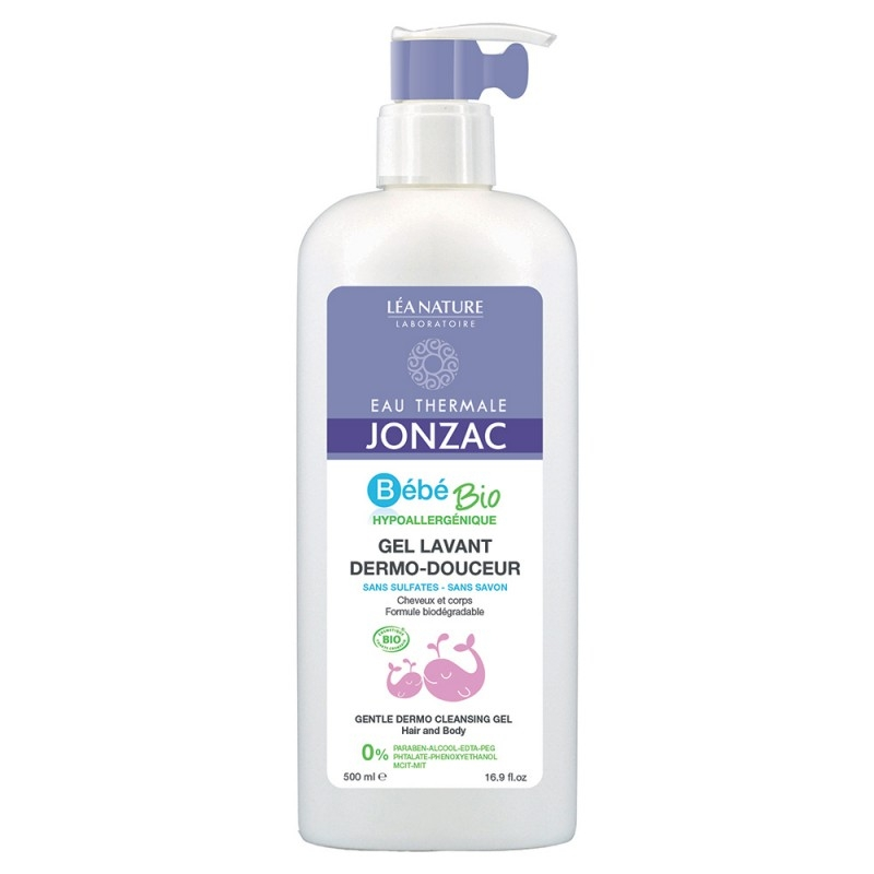 Sampon si gel de dus bebe hipoalergenic, cu apa termala, 500 ml - JONZAC